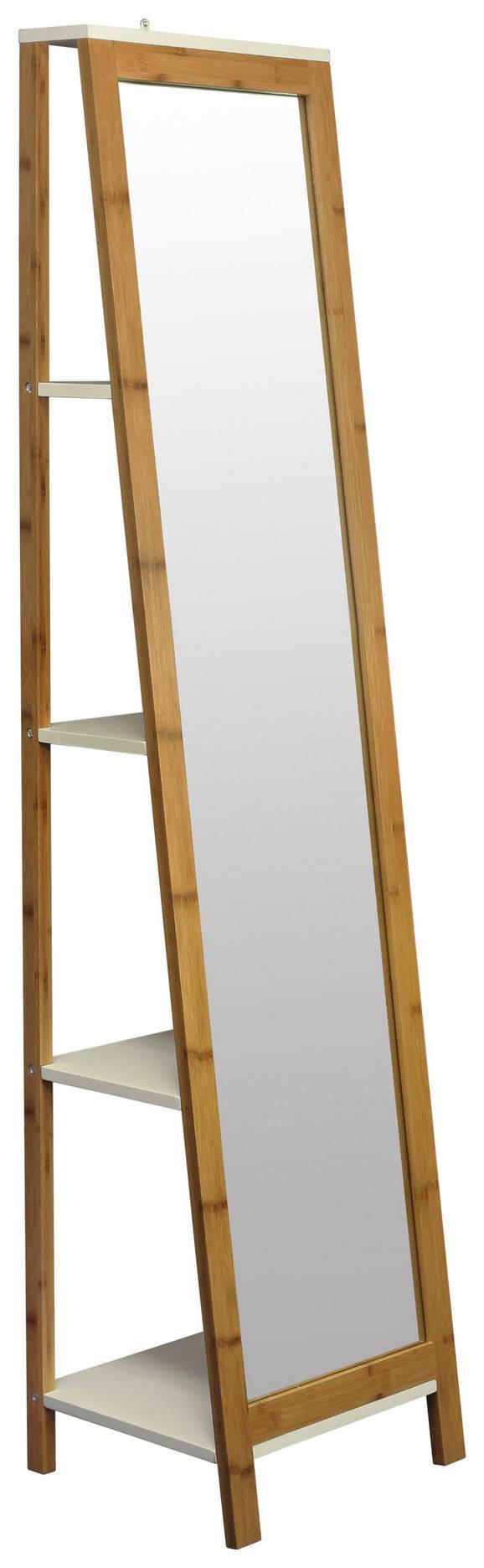 Standspiegel in Natur, ca. 40x170x35cm - Naturfarben/Weiß, MODERN, Glas/Holz (40/170/35cm) - Mömax modern living