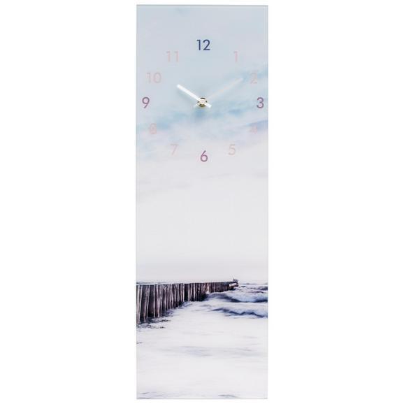 Wanduhr Glasart ca. 20x60cm - Schwarz/Weiß, Glas/Kunststoff (20/60cm) - Mömax modern living