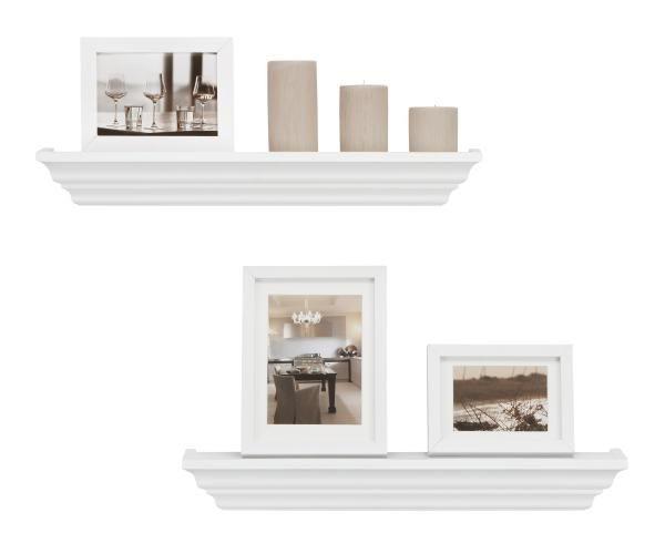 Wandboard in Weiß - Weiß, ROMANTIK / LANDHAUS, Holz (60/7,5/12,5cm) - MÖMAX modern living