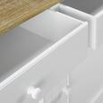 Kredenz Anouk - Weiß/Kieferfarben, MODERN, Holz (117,5/183/45,5cm) - Modern Living