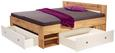 Postelja Azurro - bela/hrast, Moderno, leseni material (204/75/185cm) - Mömax modern living
