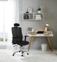 Pisarniški Stol Geno - črna, Moderno, kovina/umetna masa (63,5/112-120/63,5cm) - Mömax modern living
