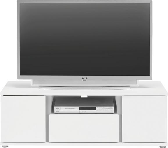 TV-Element Weiß - Alufarben/Weiß, MODERN, Holzwerkstoff/Kunststoff (120/40/43cm) - Mömax modern living