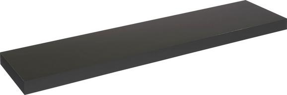 Stenska Polica Anja - črna, leseni material (100/4,5/24cm)