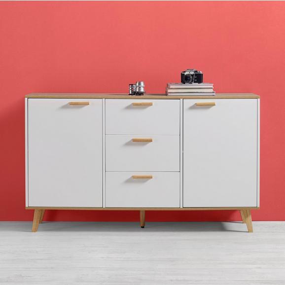 Sideboard Claire - Eichefarben/Weiß, MODERN, Holz (144/85/42cm) - Modern Living