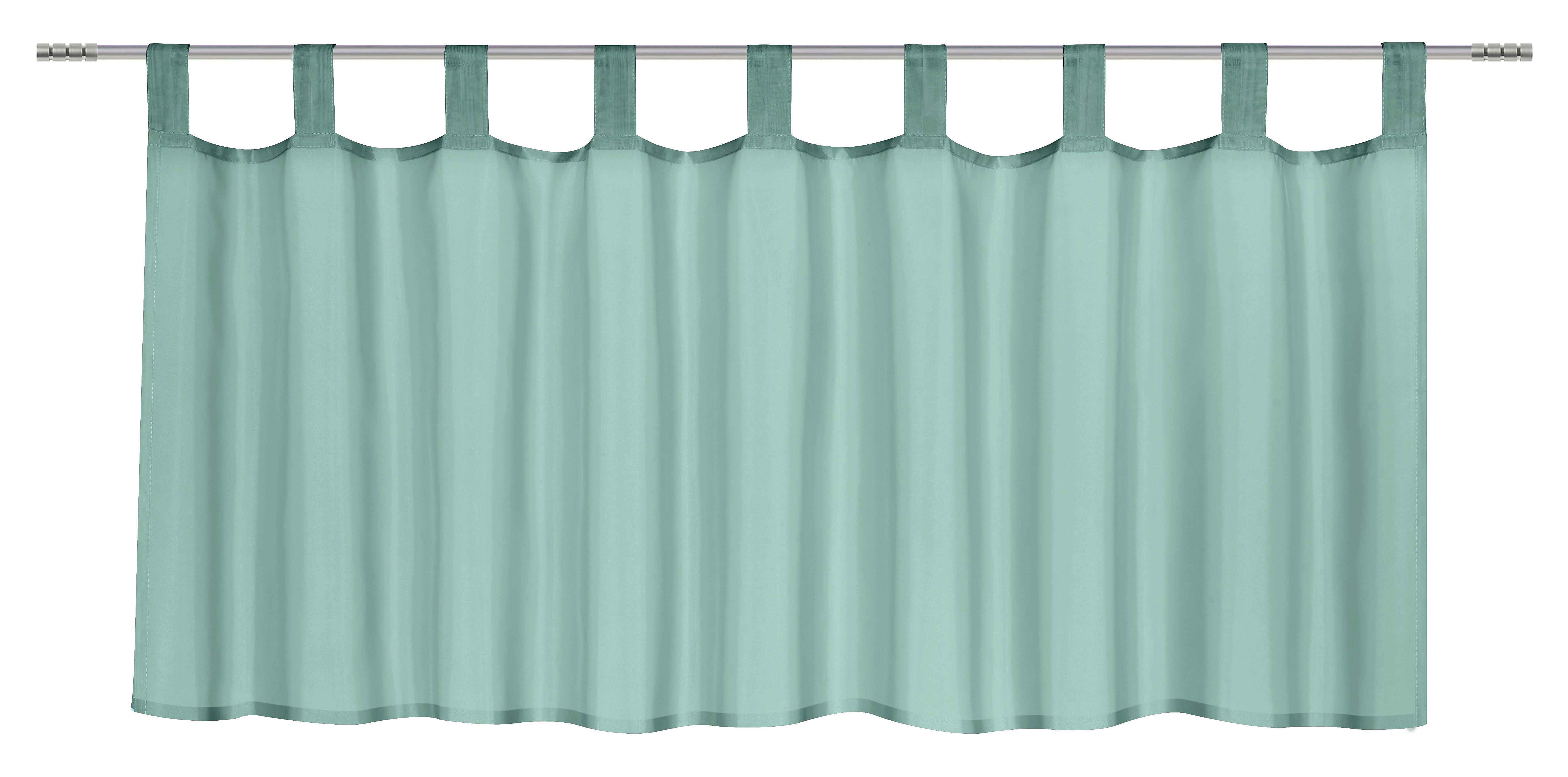 Kurzgardine Hanna in Jade, ca. 145x50cm - Grün, Textil (145/50cm) - MÖMAX modern living