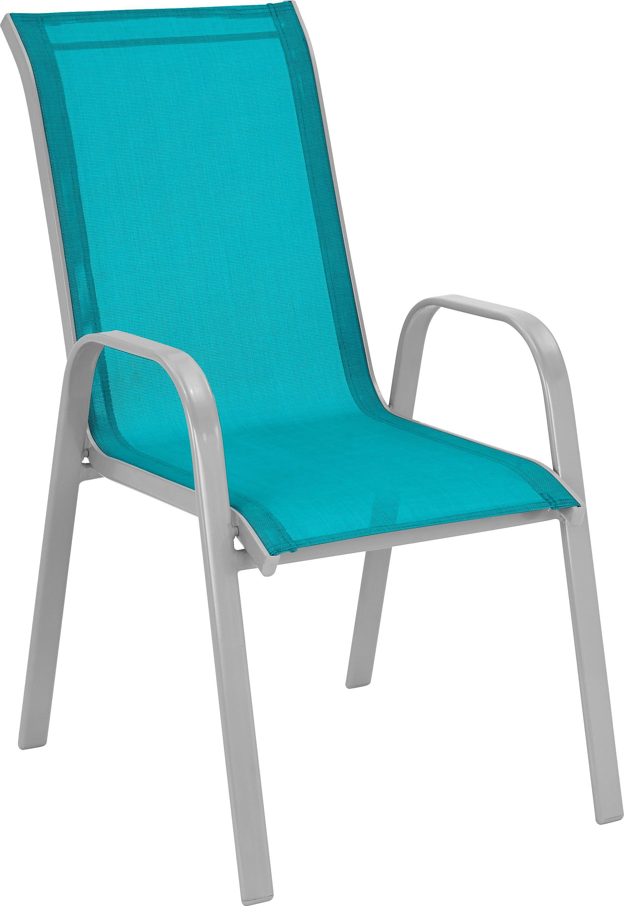 Stapelsessel Stitch in Blau - Blau/Alufarben, Kunststoff/Textil (54/96/76cm) - MÖMAX modern living