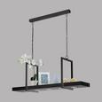 LED-Hängeleuchte Calamona max. 5 Watt - Schwarz, MODERN, Kunststoff/Metall (115/29,5/110cm)