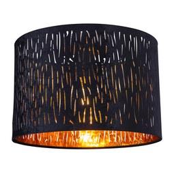 Deckenleuchte Samti max. 60 Watt - Goldfarben/Schwarz, LIFESTYLE, Textil/Metall (30/21cm) - Modern Living