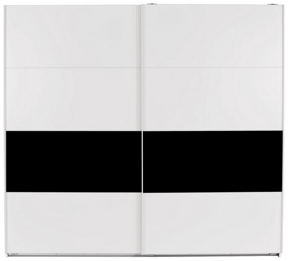 Omara Z Drsnimi Vrati Roberto - črna/bela, Moderno, kovina/leseni material (225/210/65cm) - Mömax modern living