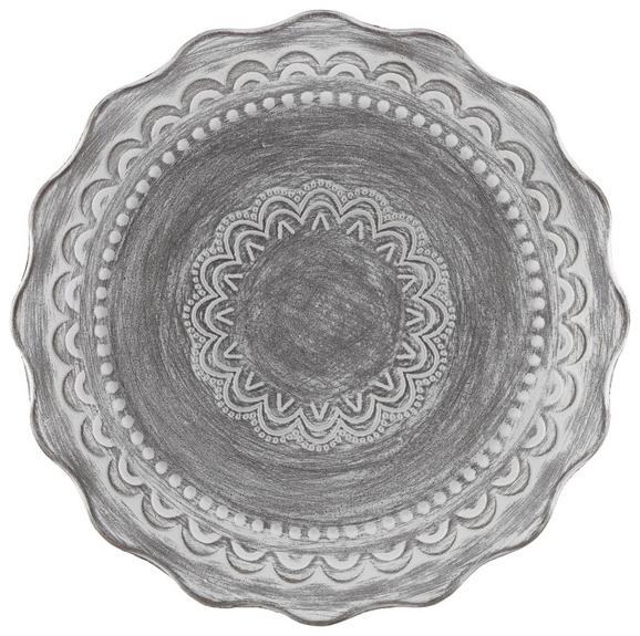 Okrasni Krožnik Sarah - siva/bela, leseni material (35cm) - Mömax modern living