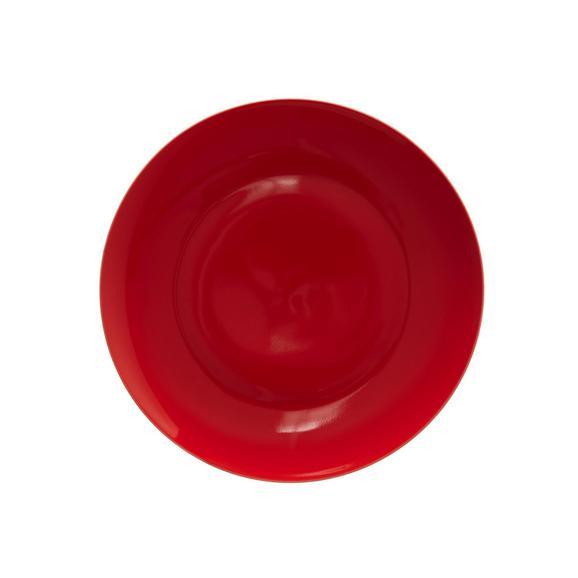 Dessertteller Sandy in Rot aus Keramik - Rot, KONVENTIONELL, Keramik (20,4/1,8cm) - Mömax modern living
