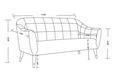 Sofa Florentina 2,5 Sitzer - Dunkelgrau, MODERN, Holz/Textil (170/84/73cm) - Modern Living