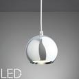 LED-Hängeleuchte Elliot - Chromfarben, MODERN, Glas/Metall (12/12/180cm) - Mömax modern living