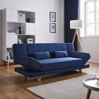 Sofa Faith mit Schlaffunktion inkl. Kissen - Dunkelblau, MODERN, Holz/Textil (186/73/83cm) - Modern Living