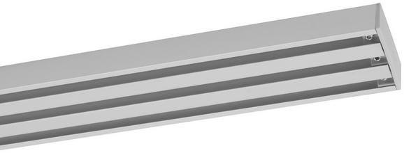 Vorhangschiene Style Alufarben, ca. 160cm - Alufarben, Metall (160cm) - Premium Living