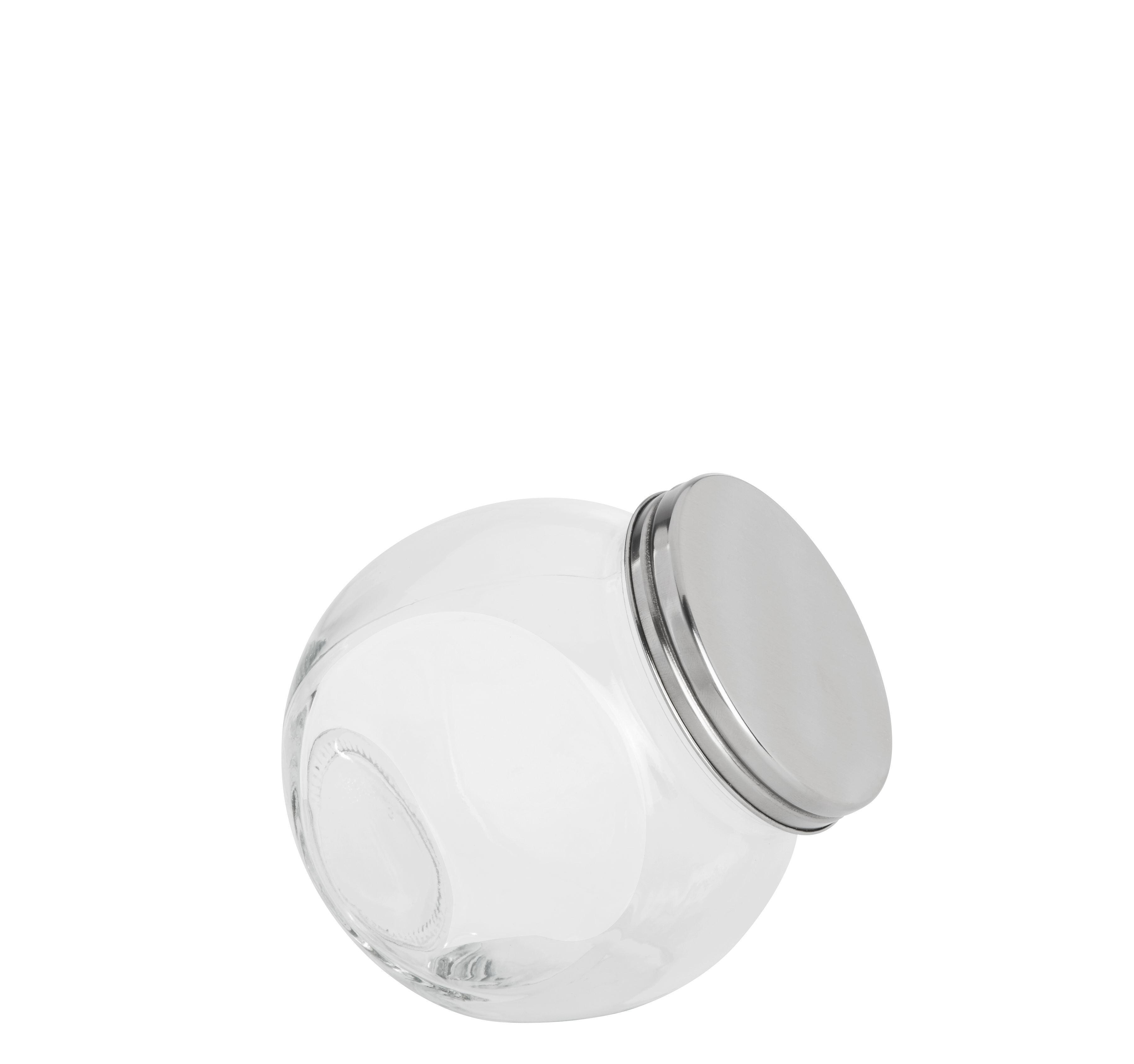 Fűszertartó Üveg Antonius - tiszta/nemesacél színű, üveg/fém (12/8,7/12,5cm) - MÖMAX modern living