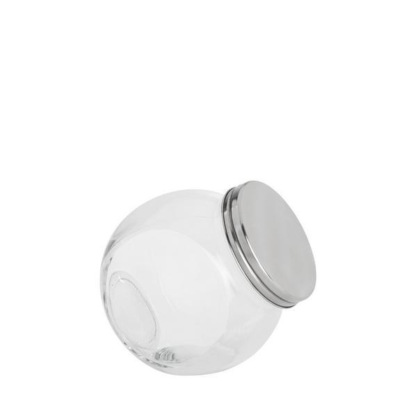 Steklena Posodica Za Začimbe Antonius - prozorna/nerjaveče jeklo, kovina/steklo (12/8,7/12,5cm) - Mömax modern living
