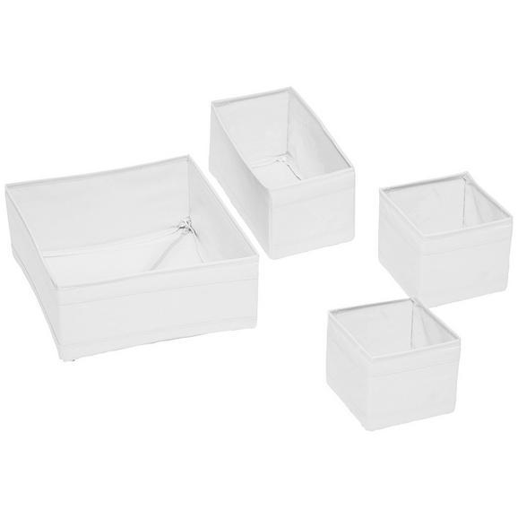 Aufbewahrungsboxen-Set Tina in Weiß, 4-teilig - Weiß, Textil (28/28/13cm) - Mömax modern living