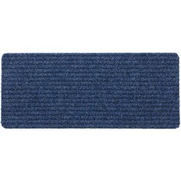 Fußmatte Mona, ca. 25x60cm - Blau/Anthrazit, KONVENTIONELL, Textil (25/60cm) - Mömax modern living