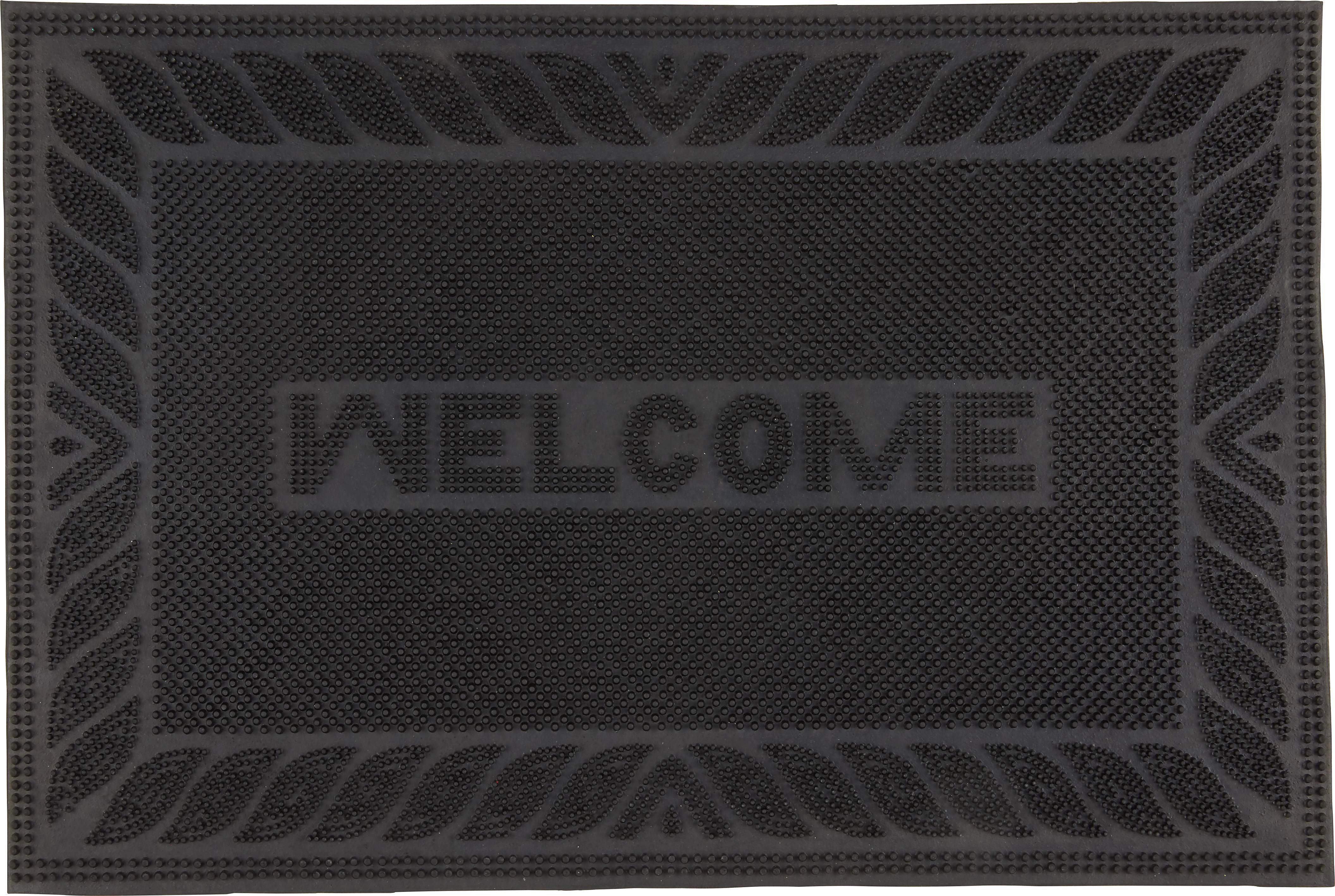 Lábtörlő Doris - fekete, műanyag (40/60cm) - MÖMAX modern living