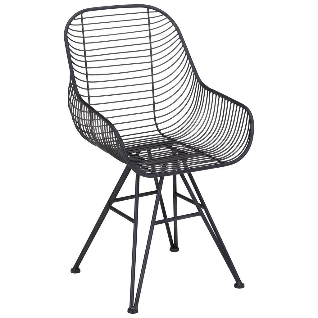 Stuhl in Schwarz aus Metall