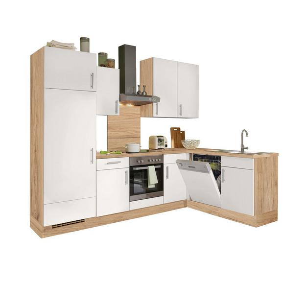 Kuhinjski Blok Santiago - bela/hrast, Trendi, leseni material (275/175cm) - Vertico