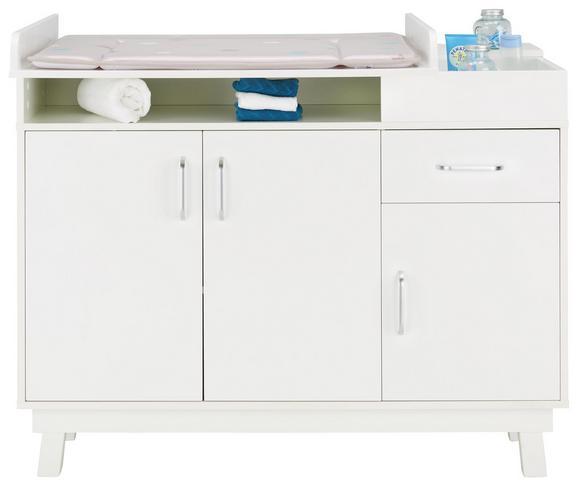 Wickelkommode Weiß - Weiß, MODERN, Holz (117/100/75/40cm) - Premium Living