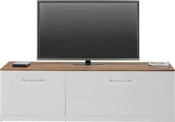 TV-Element Weiß Hochglanz - Weiß, MODERN, Holz (160/49/50cm) - Premium Living