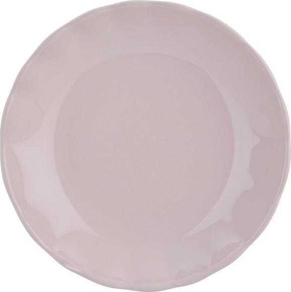 Mélytányér Pauline - rózsaszín, romantikus/Landhaus, kerámia (25cm) - ZANDIARA