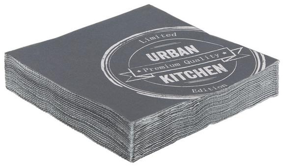 Szalvéta Urban - antracit, modern, papír (16,5/16,5/2,5cm) - MÖMAX modern living