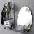 Wandspiegel Schwarz - Schwarz, LIFESTYLE, Glas/Metall (48/43/11cm) - Modern Living