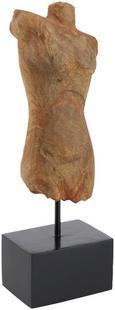 Skulptur Arjun in Natur/Schwarz - Schwarz/Naturfarben, ROMANTIK / LANDHAUS, Holz/Metall (14,5/38,5/9cm) - Mömax modern living