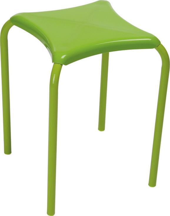 Stapelhocker in Grün aus Stahl - Grün, Kunststoff/Metall (34/45/34cm) - Mömax modern living