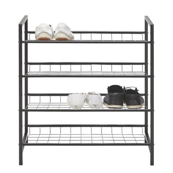 Regal Za Čevlje Gustav - črna, kovina (63/70/30cm) - Mömax modern living