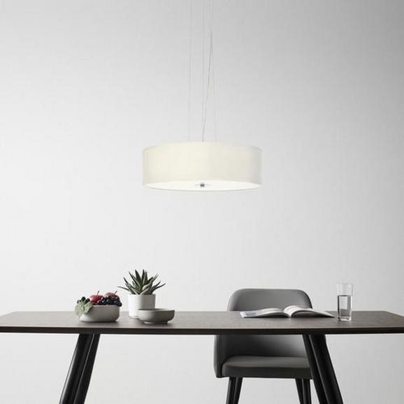 Pendelleuchte Benny 5-flammig - Beige, MODERN, Textil/Metall (48/48/160cm) - Mömax modern living