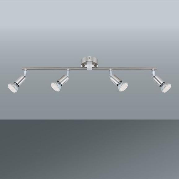 LED-Strahler Fritz, max. 4x3 Watt - Nickelfarben, KONVENTIONELL, Metall (60cm) - Mömax modern living