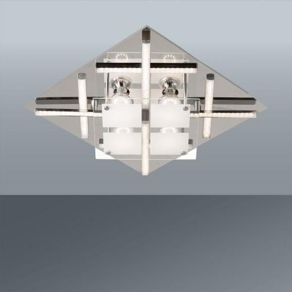 LED-Deckenleuchte Bela, Max. 8x3 Watt - KONVENTIONELL, Glas/Metall (38/38/9cm) - Mömax modern living