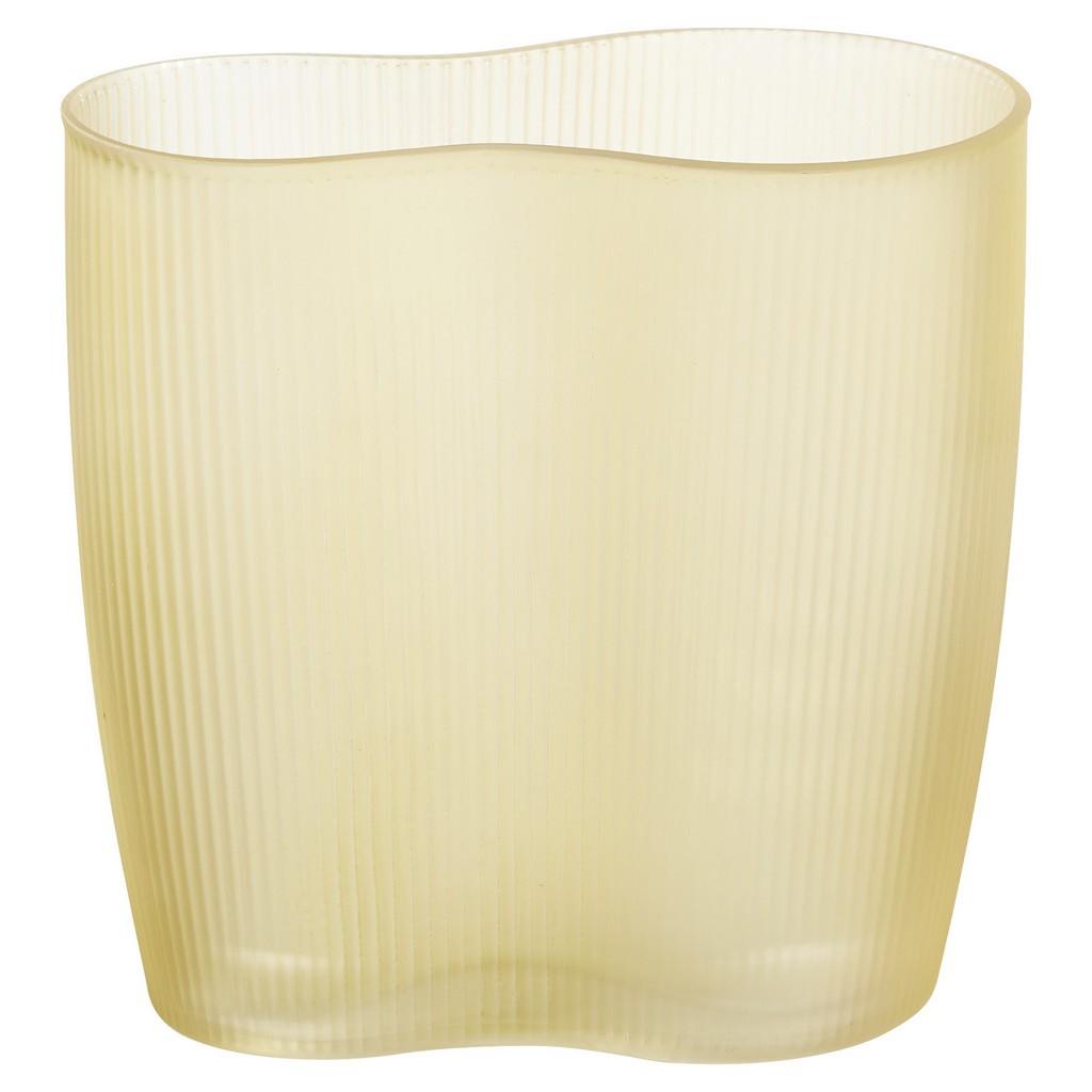 Vase Sahara aus Glas in Bernsteinfarben