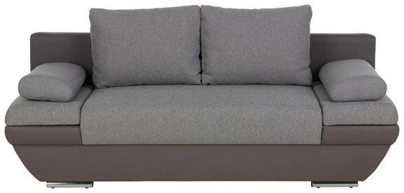 Schlafsofa Grau - Dunkelgrau/Hellgrau, Textil/Metall (205/76/95cm) - Premium Living