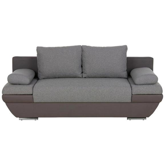 Zofa S Posteljno Funkcijo Patras - temno siva/svetlo siva, kovina/tekstil (205/76/95cm) - Premium Living