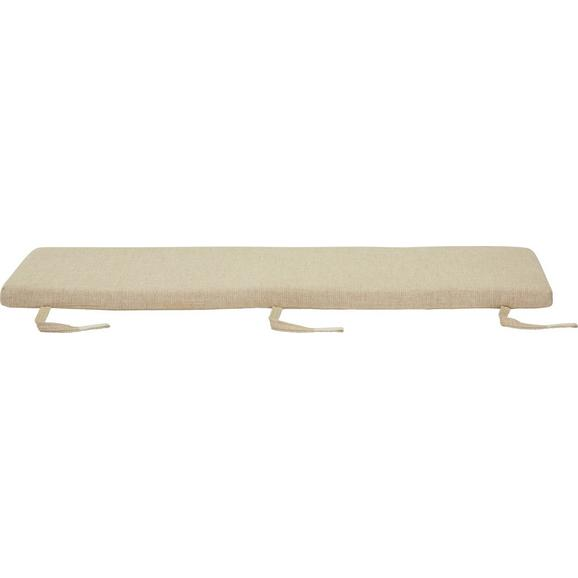 Sitzkissen Beige ca.140x40x5cm - Beige, LIFESTYLE, Textil (140/40/5cm) - Zandiara