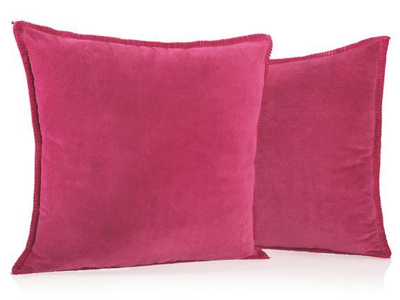 Samtkissen Phil 50x50cm - Rot, KONVENTIONELL, Textil (50/50cm) - Premium Living