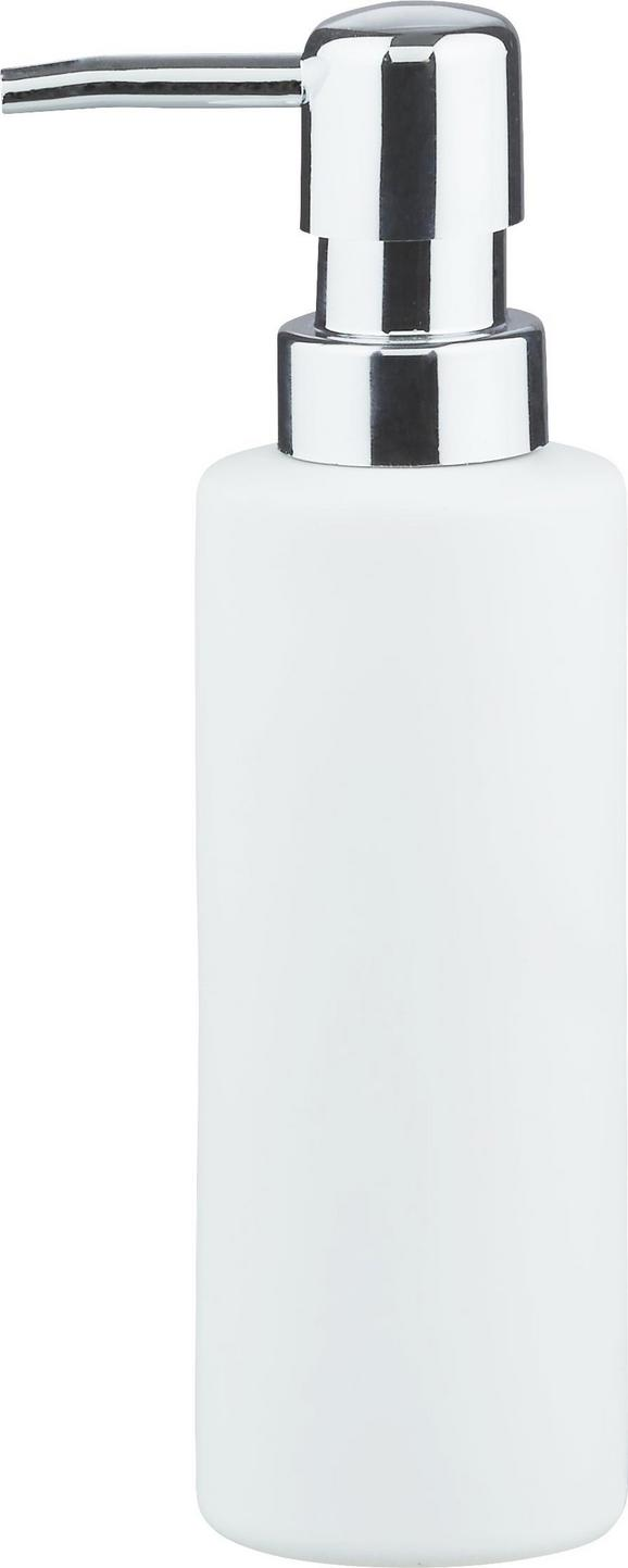 Seifenspender Melanie in Weiß aus Keramik - Weiß, KONVENTIONELL, Keramik (5/18cm) - Mömax modern living