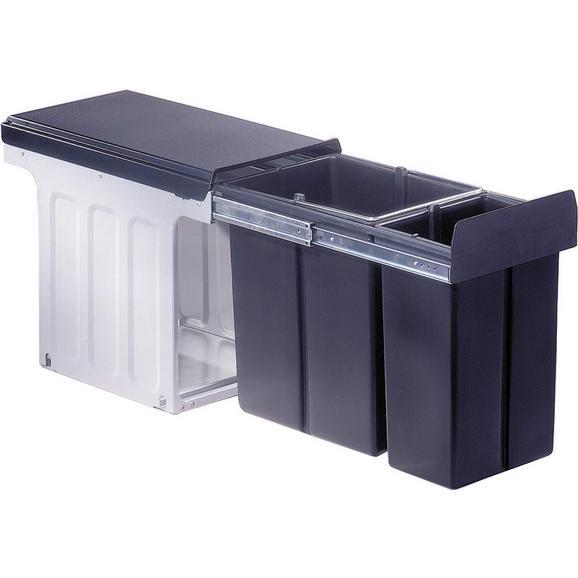 Einbauabfallsammler aus Kunststoff - Anthrazit, Kunststoff (25,4/38,5/47,5cm)