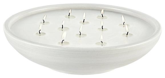 Kerze Im Topf Ian Weiß - Weiß, LIFESTYLE, Keramik (30 7,5 cm) - Mömax modern living