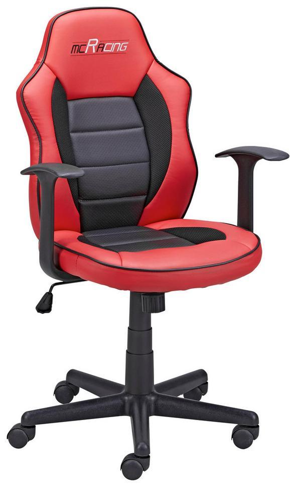 Mladinski Vrtljivi Stol Rita - rdeča/črna, Moderno, umetna masa/tekstil (60/91/63cm) - Mömax modern living