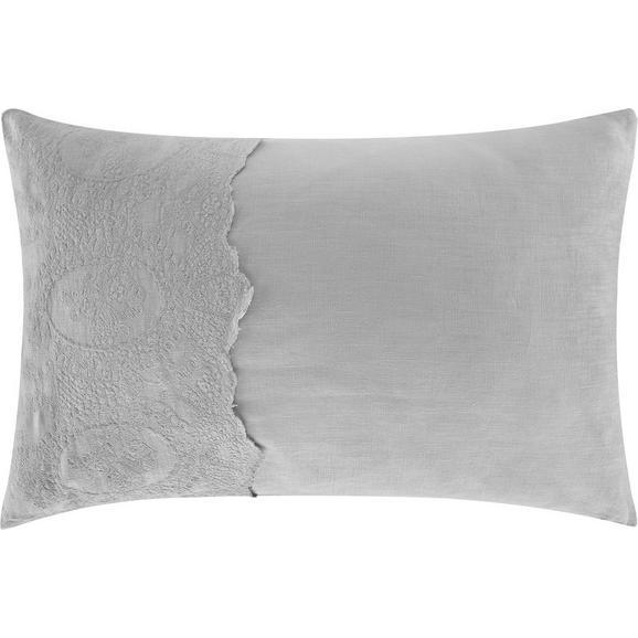 Kissen Melinda ca.40x60cm in Grau - Grau, ROMANTIK / LANDHAUS, Textil (40/60cm) - Bessagi Home