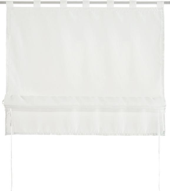 Bändchenrollo Nina in Weiß, ca. 100x140cm - Weiß, Textil (100/140cm) - MÖMAX modern living