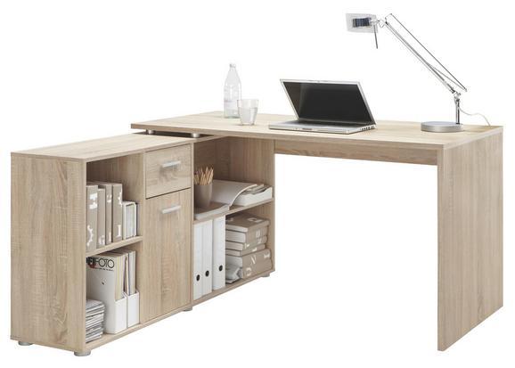 Schreibtischkombination Lex Eiche - Eichefarben, MODERN, Holzwerkstoff (136/75/68cm)
